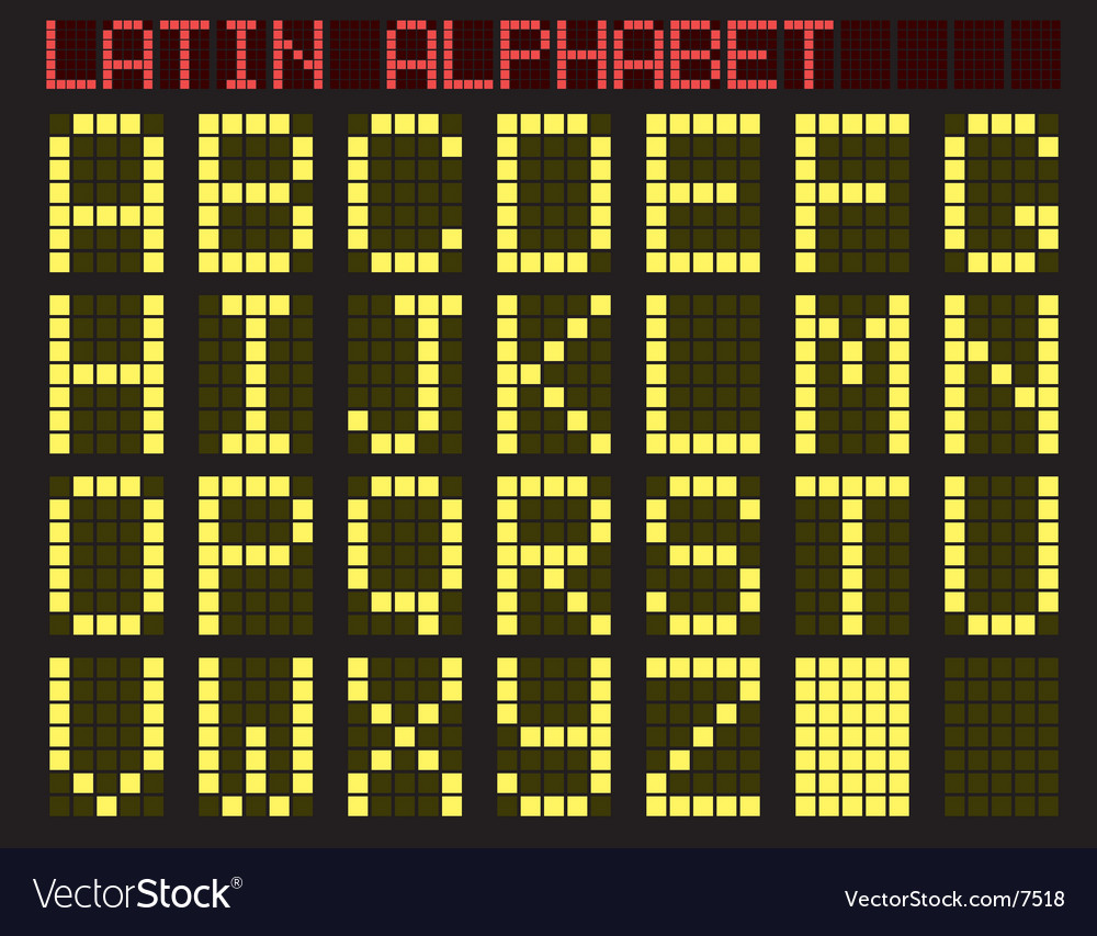 Latin alphabet indicator vector | Price: 1 Credit (USD $1)