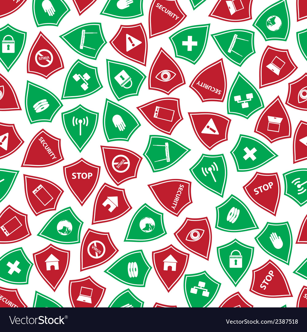 Red and green security shields pattern eps10 vector | Price: 1 Credit (USD $1)