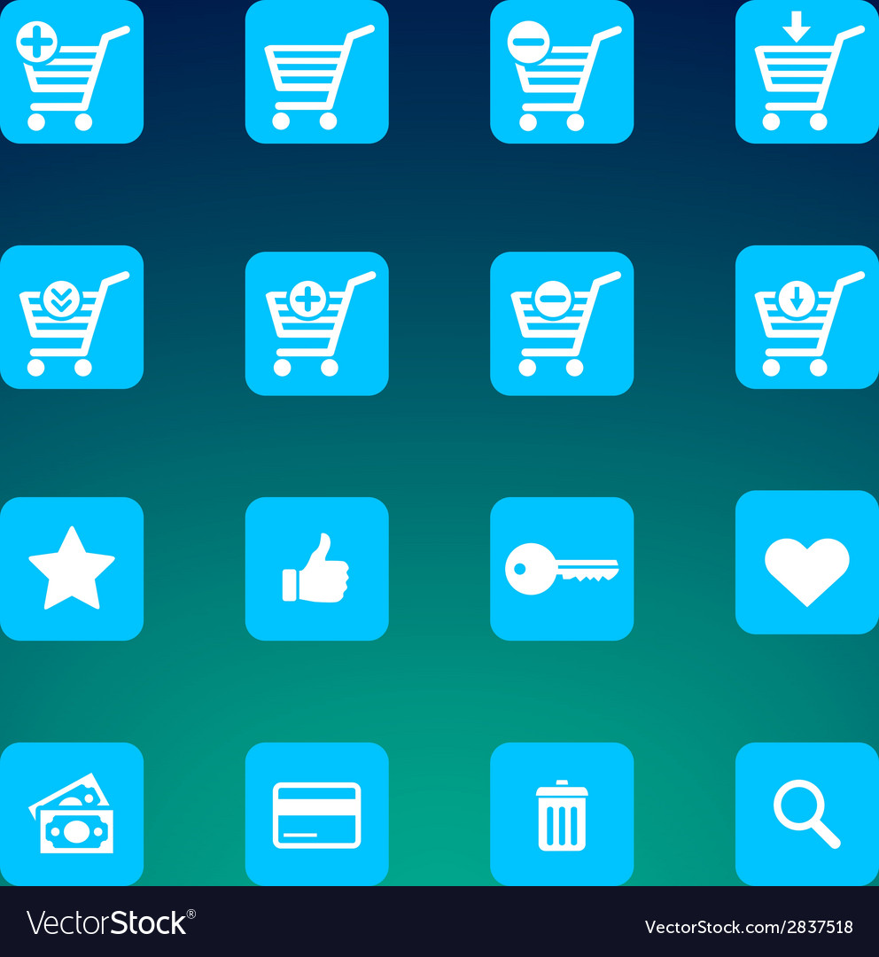 Set of various e-shop icons - shopping carts vector | Price: 1 Credit (USD $1)