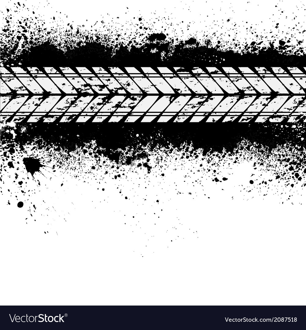Tire track on ink blots vector | Price: 1 Credit (USD $1)