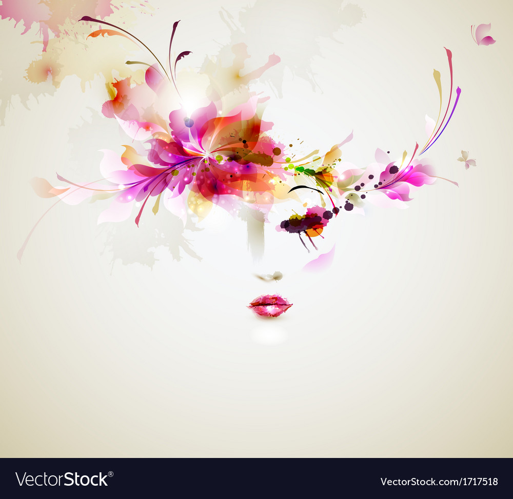 Women face vector