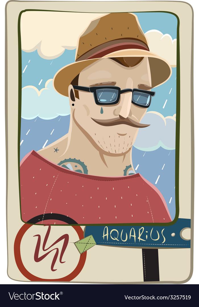 Aquarius man vector | Price: 1 Credit (USD $1)