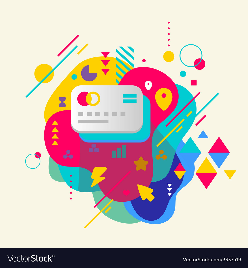 Bank cards on abstract colorful spotted background vector | Price: 3 Credit (USD $3)