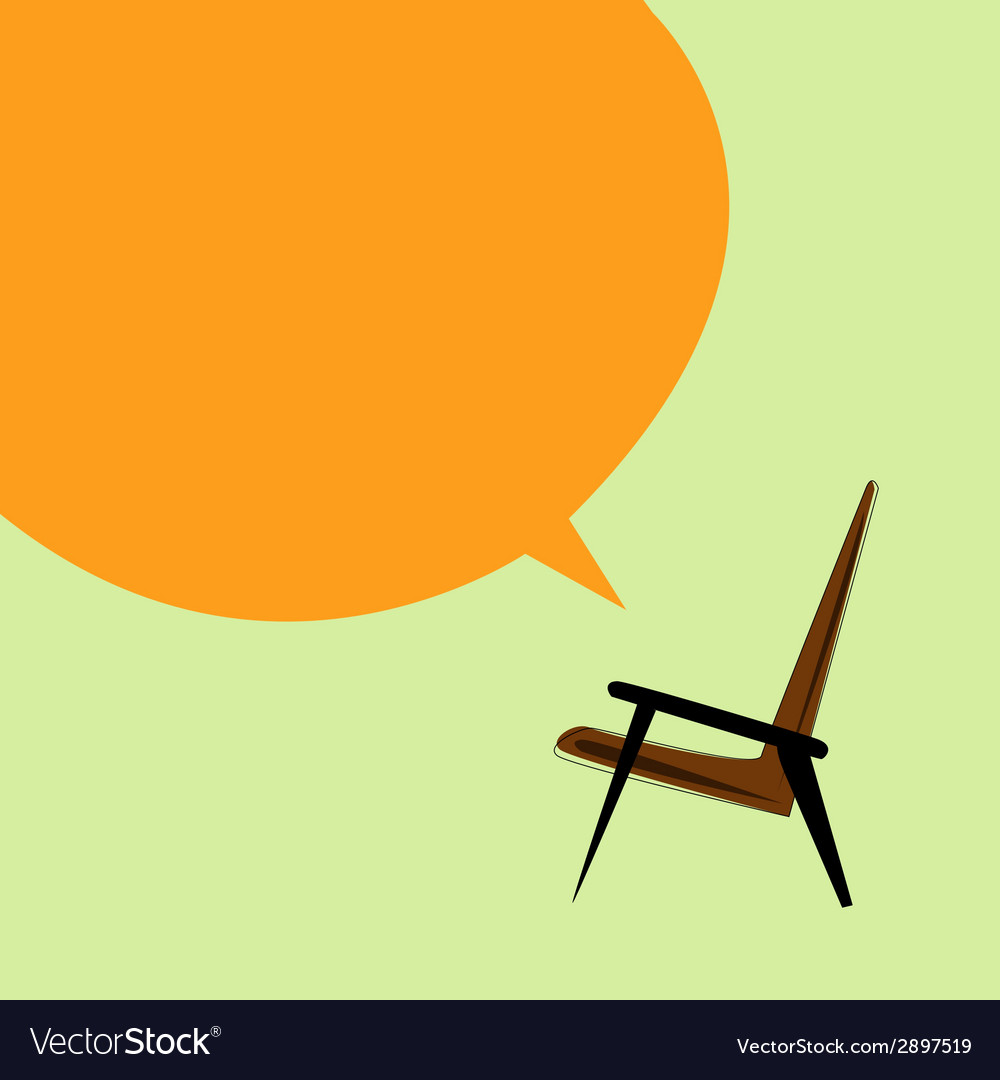 Brown armchair on a light background vector | Price: 1 Credit (USD $1)