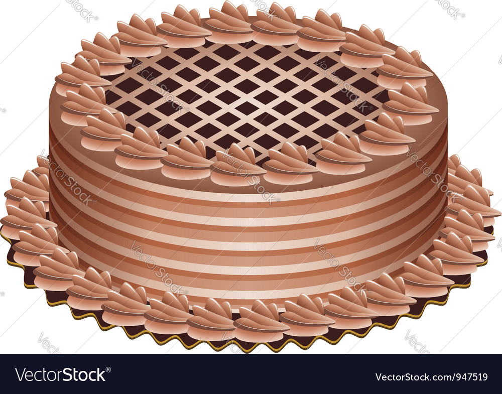 Chocolate cake vector | Price: 1 Credit (USD $1)