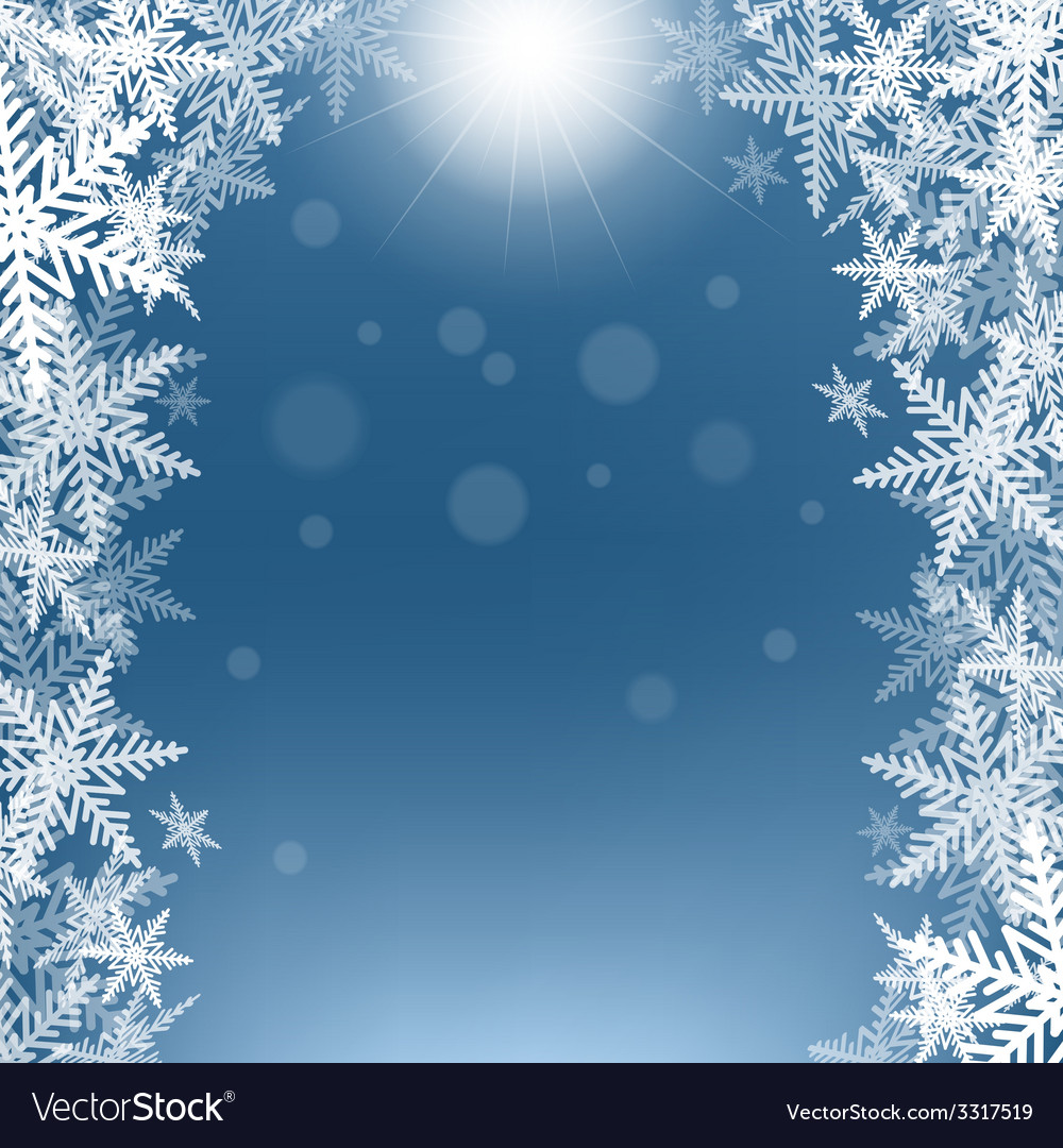 Christmas snowflakes and sun vector | Price: 1 Credit (USD $1)