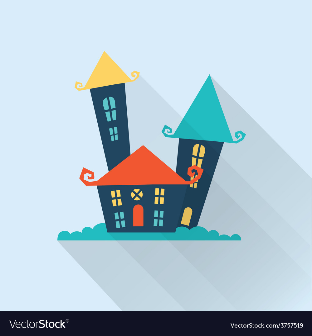 Cute cartoon houses vector | Price: 1 Credit (USD $1)