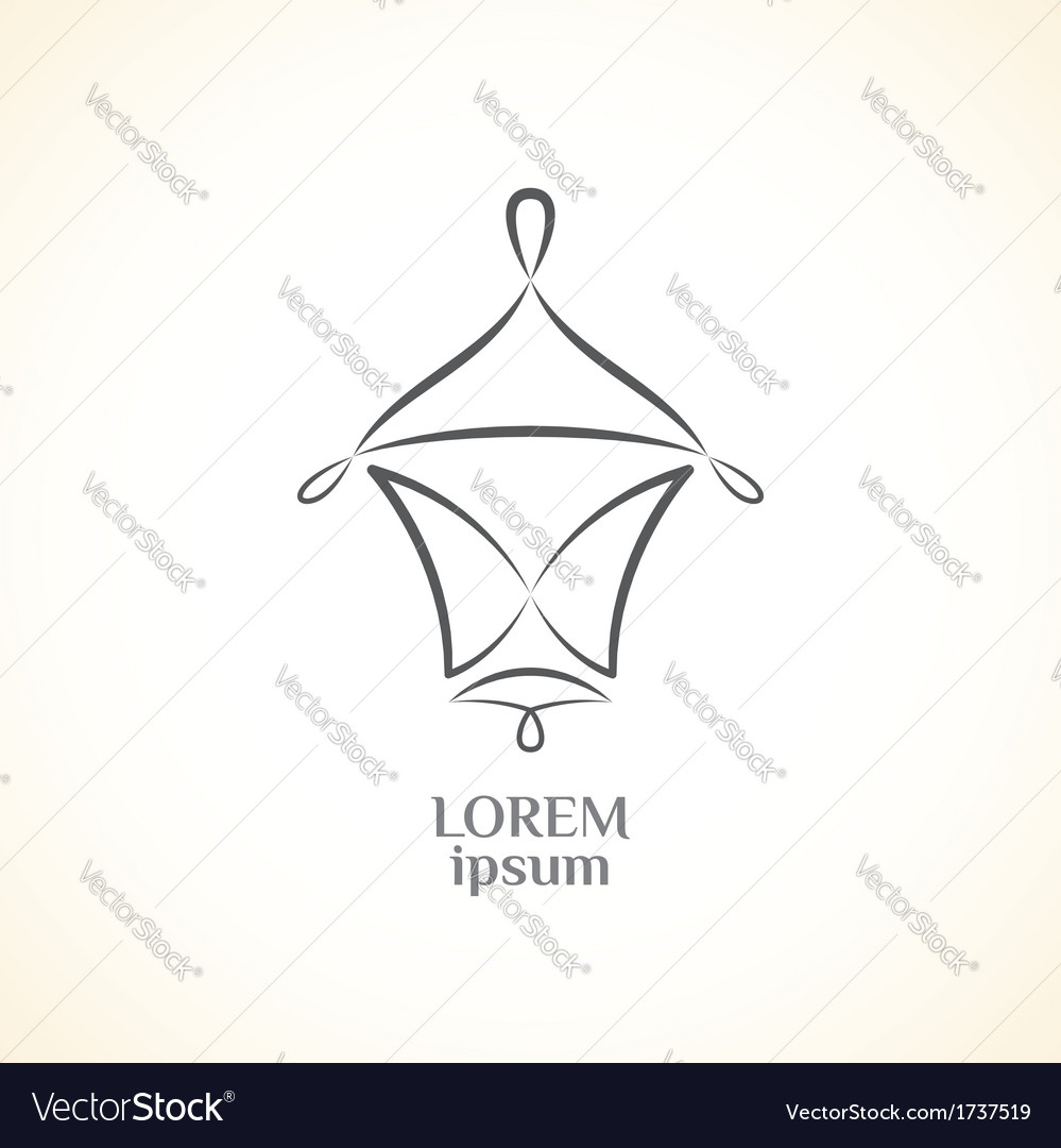 Decorative lantern vector | Price: 1 Credit (USD $1)