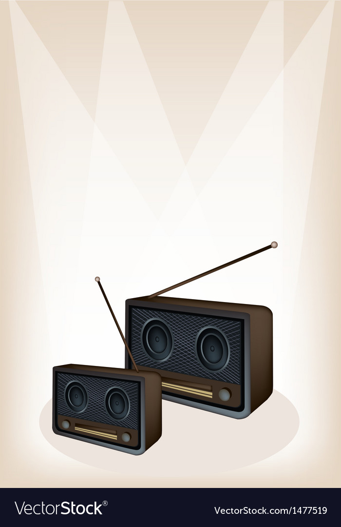 Old radio stage background vector | Price: 1 Credit (USD $1)