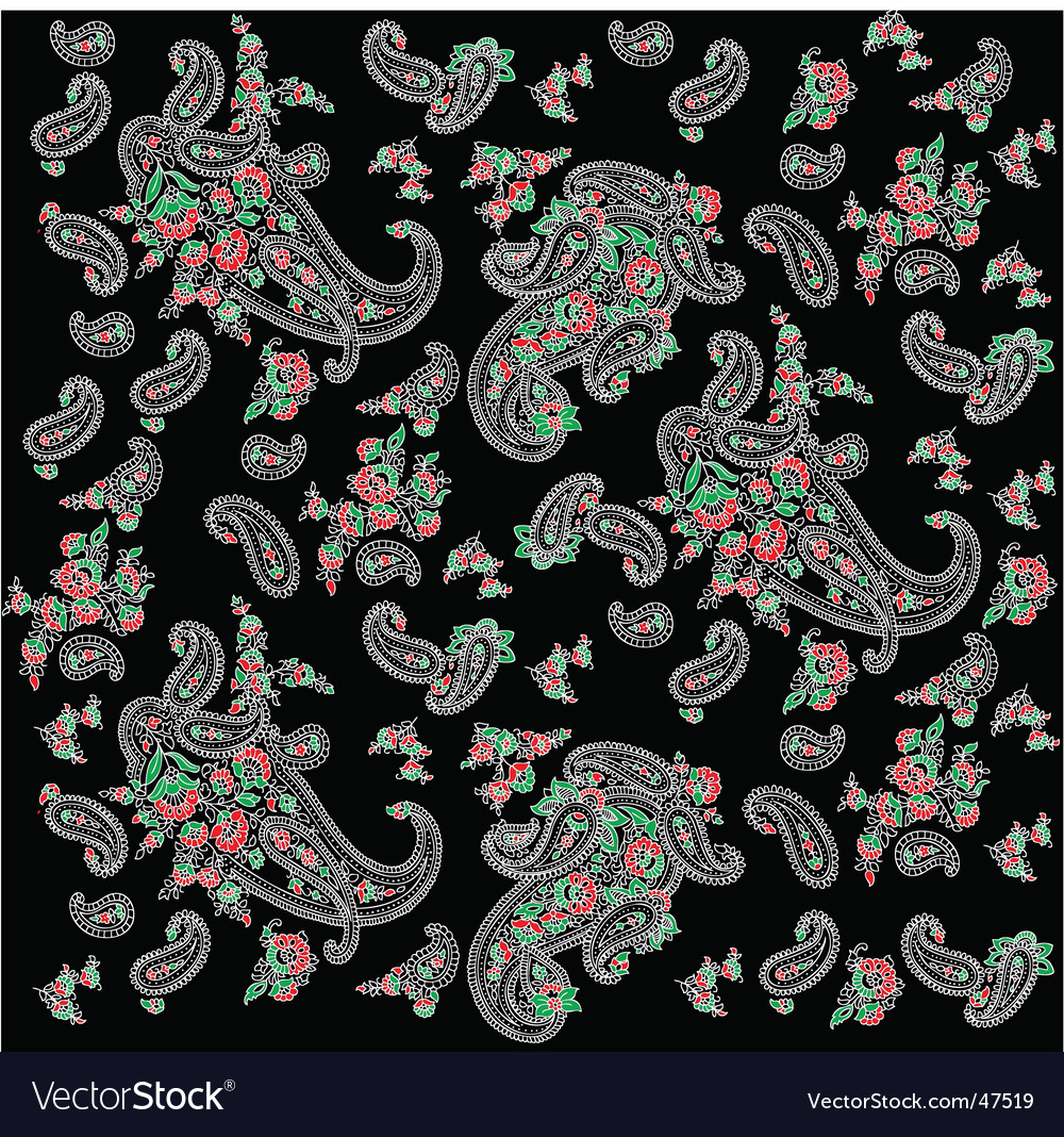 Paisley panel design vector | Price: 1 Credit (USD $1)