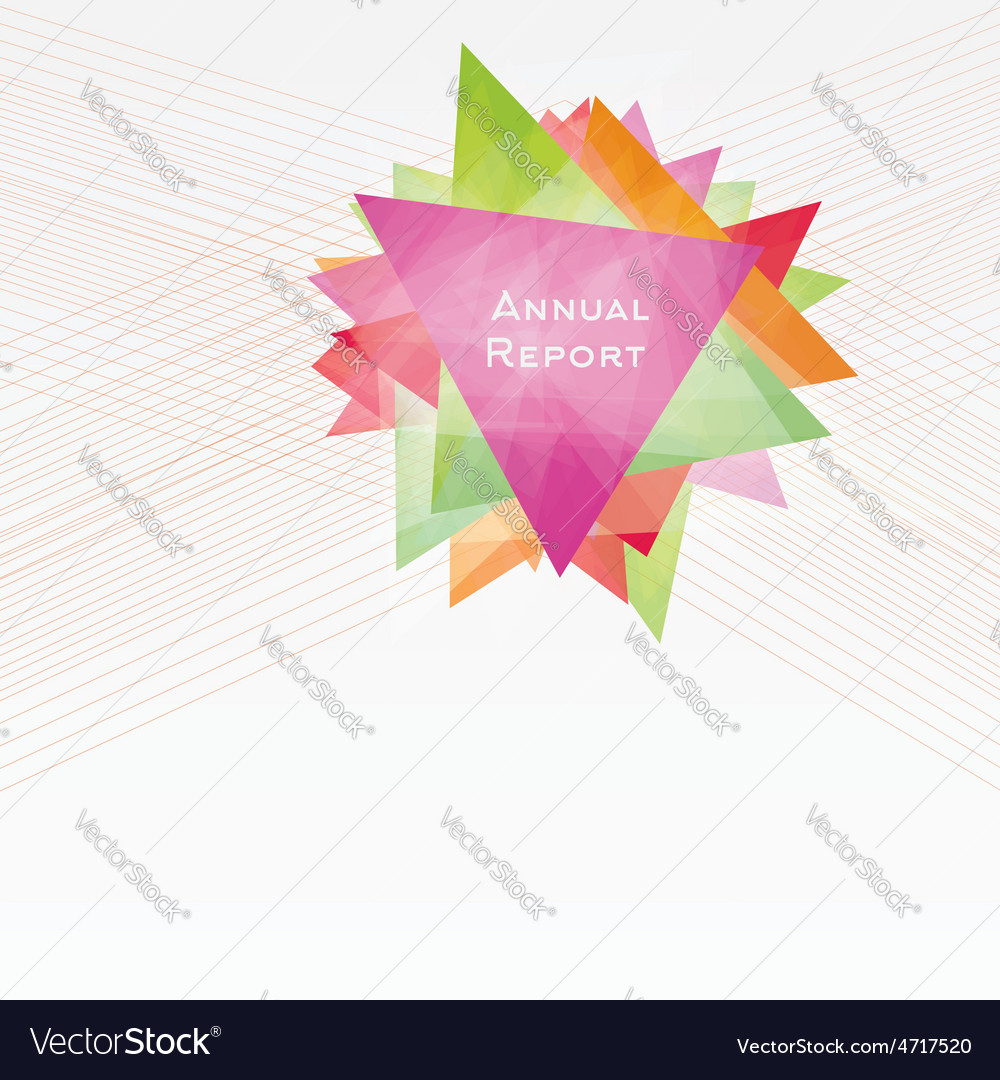 Background with triangles and lines annual report vector | Price: 1 Credit (USD $1)