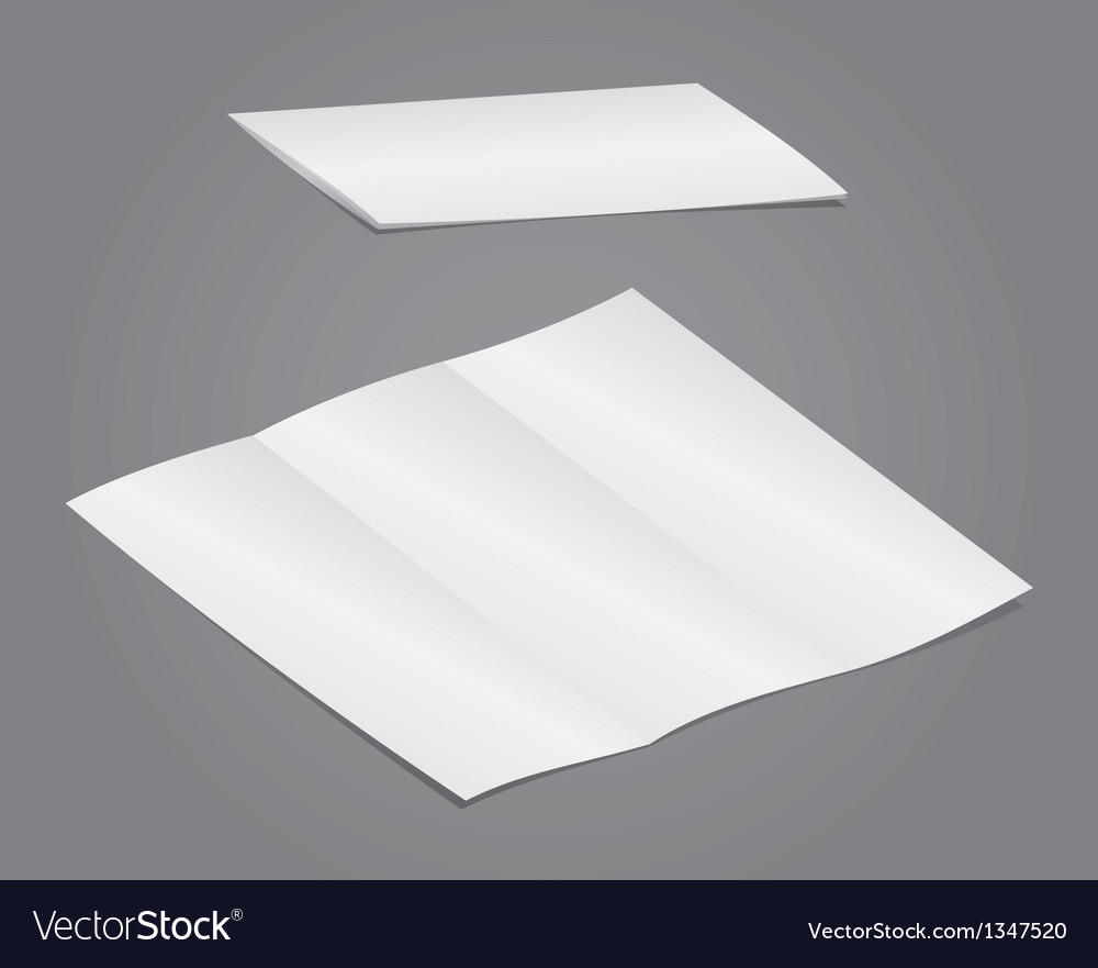 Blank folding vector | Price: 1 Credit (USD $1)