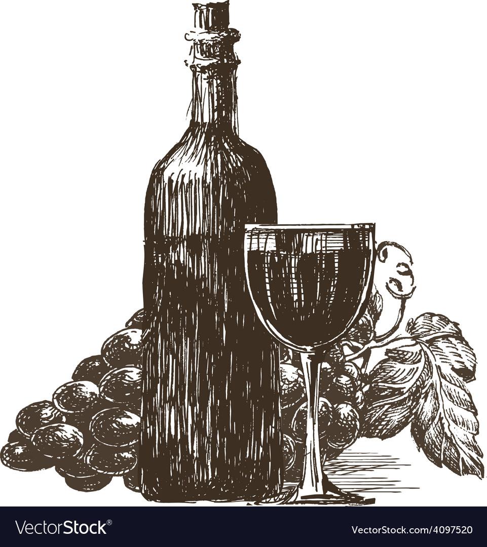 Bottle of wine logo design template vector | Price: 3 Credit (USD $3)