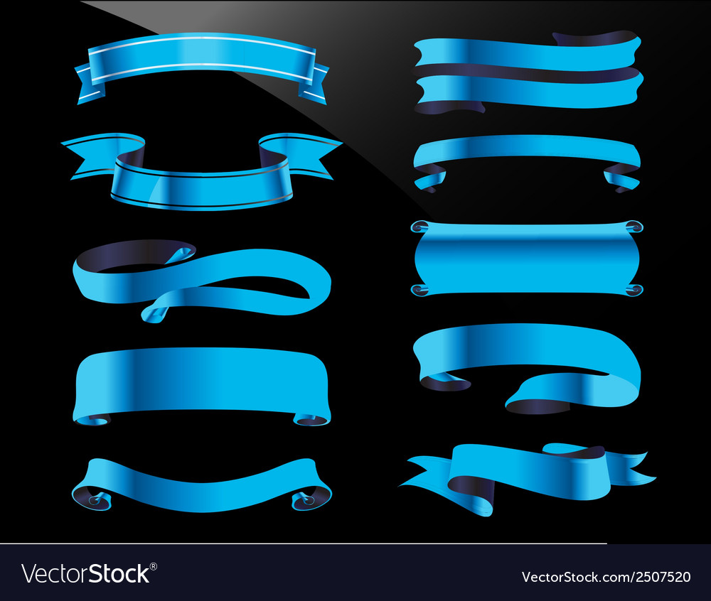 Collection blue ribbon stock vector | Price: 1 Credit (USD $1)