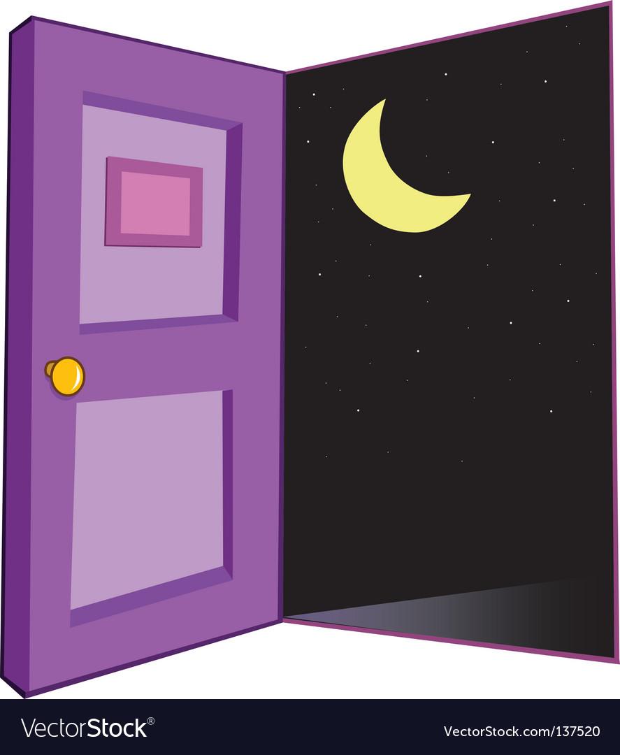 Door night vector | Price: 1 Credit (USD $1)
