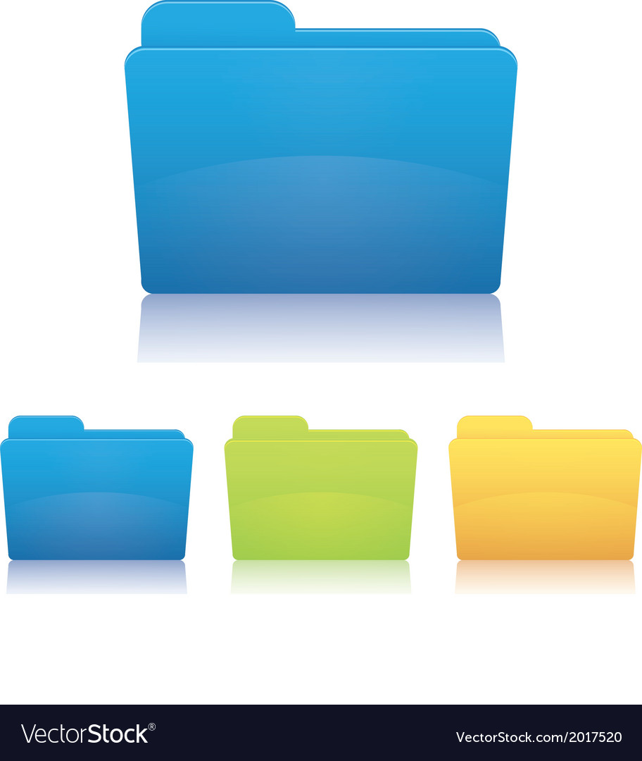 File folder vector | Price: 1 Credit (USD $1)