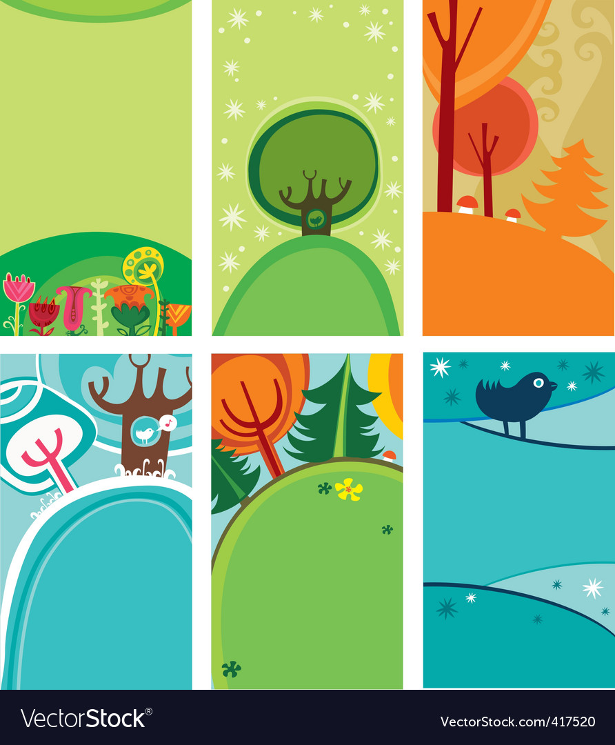 Four-season banners vector | Price: 3 Credit (USD $3)