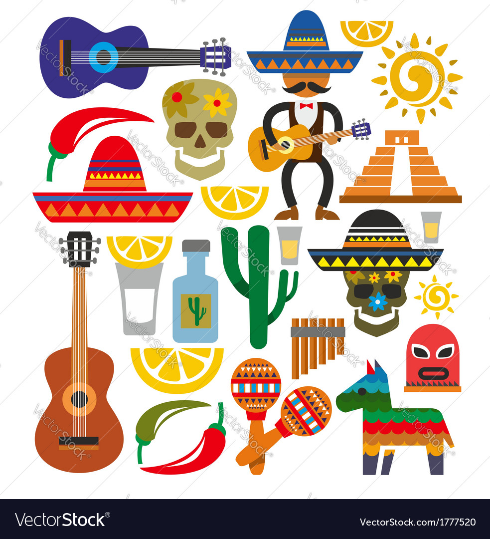 Mexico icons vector | Price: 1 Credit (USD $1)