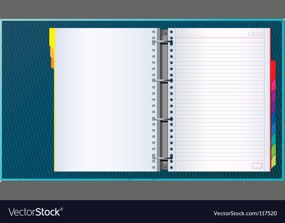 Office binder vector | Price: 3 Credit (USD $3)