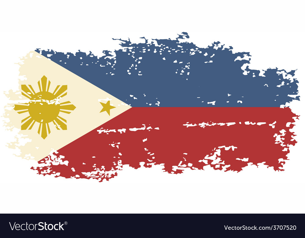 Philippines grunge flag vector | Price: 1 Credit (USD $1)