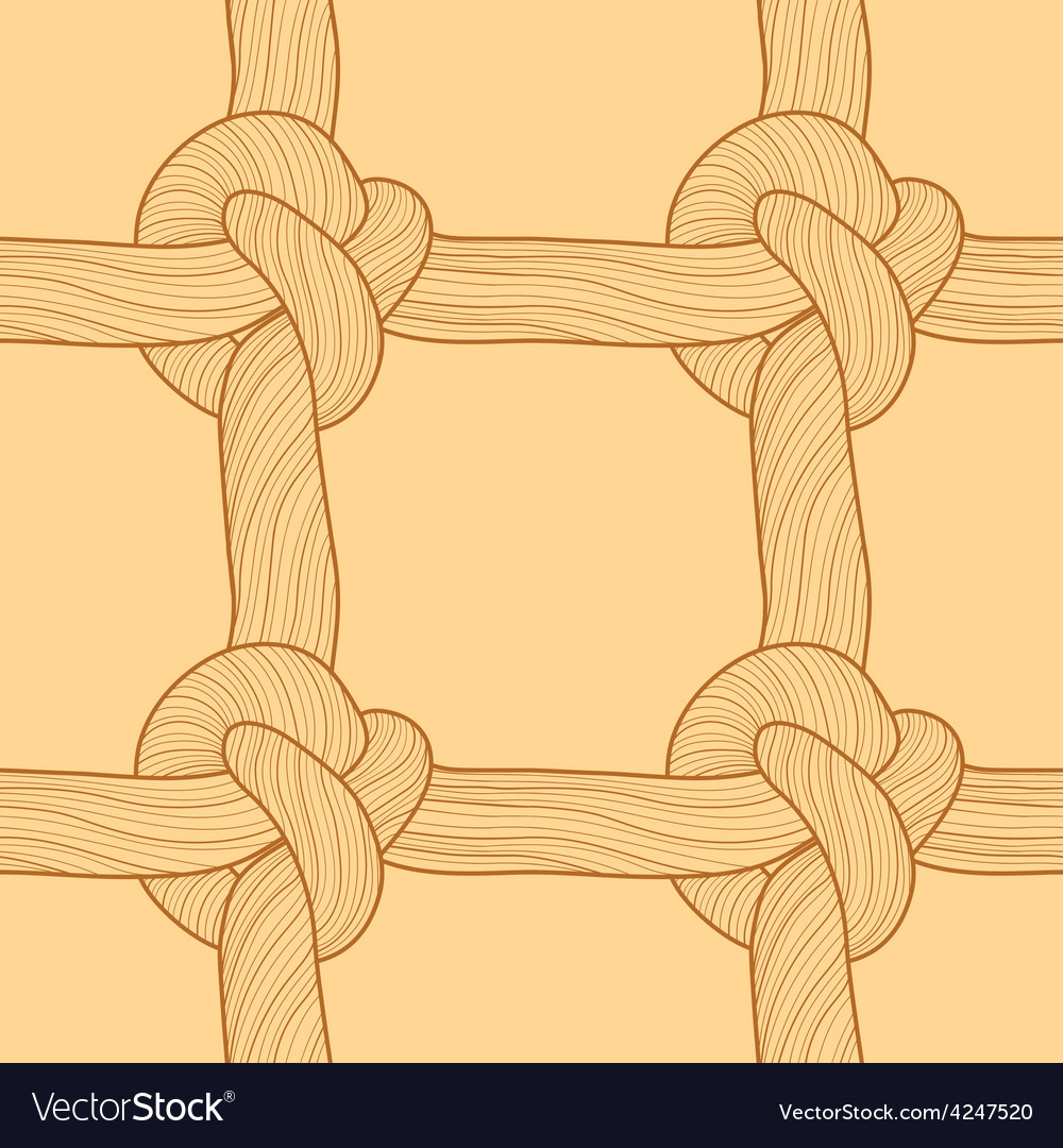 Rope and knots seamless pattern vector | Price: 1 Credit (USD $1)