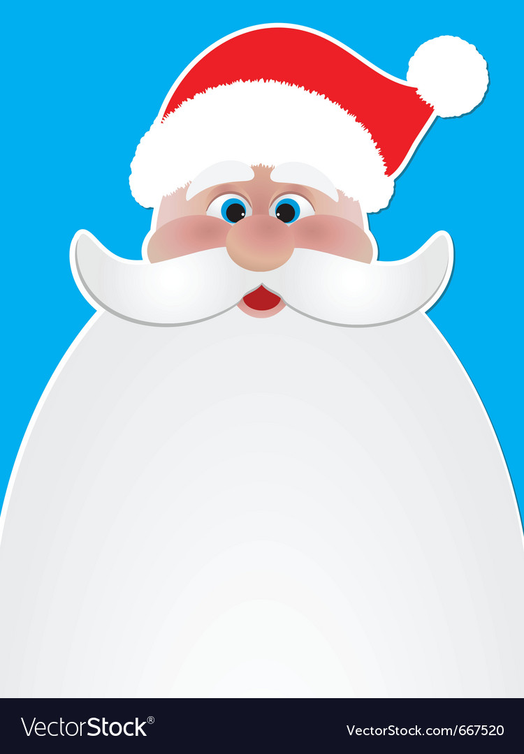 Santa poster vector | Price: 1 Credit (USD $1)