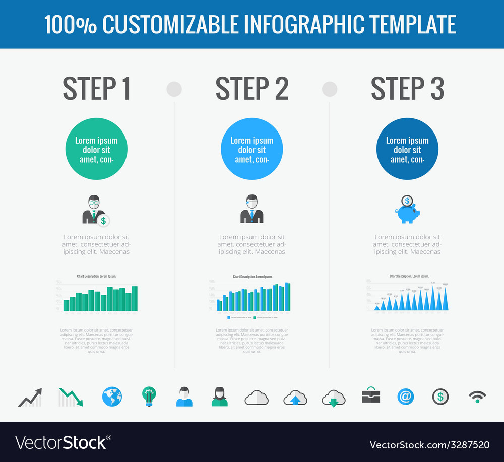 Technology infographic elements vector | Price: 1 Credit (USD $1)