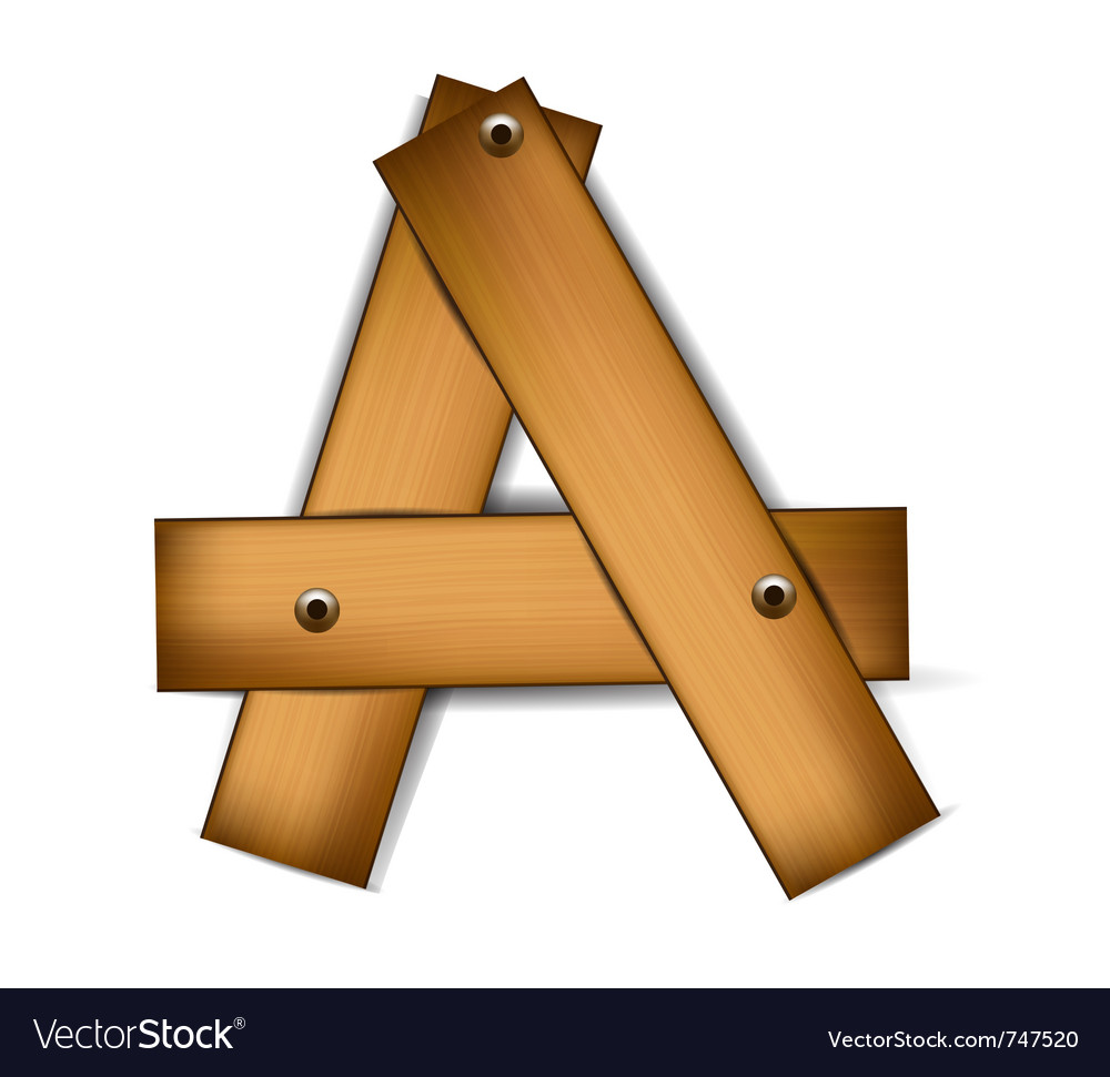Wooden type a vector | Price: 1 Credit (USD $1)