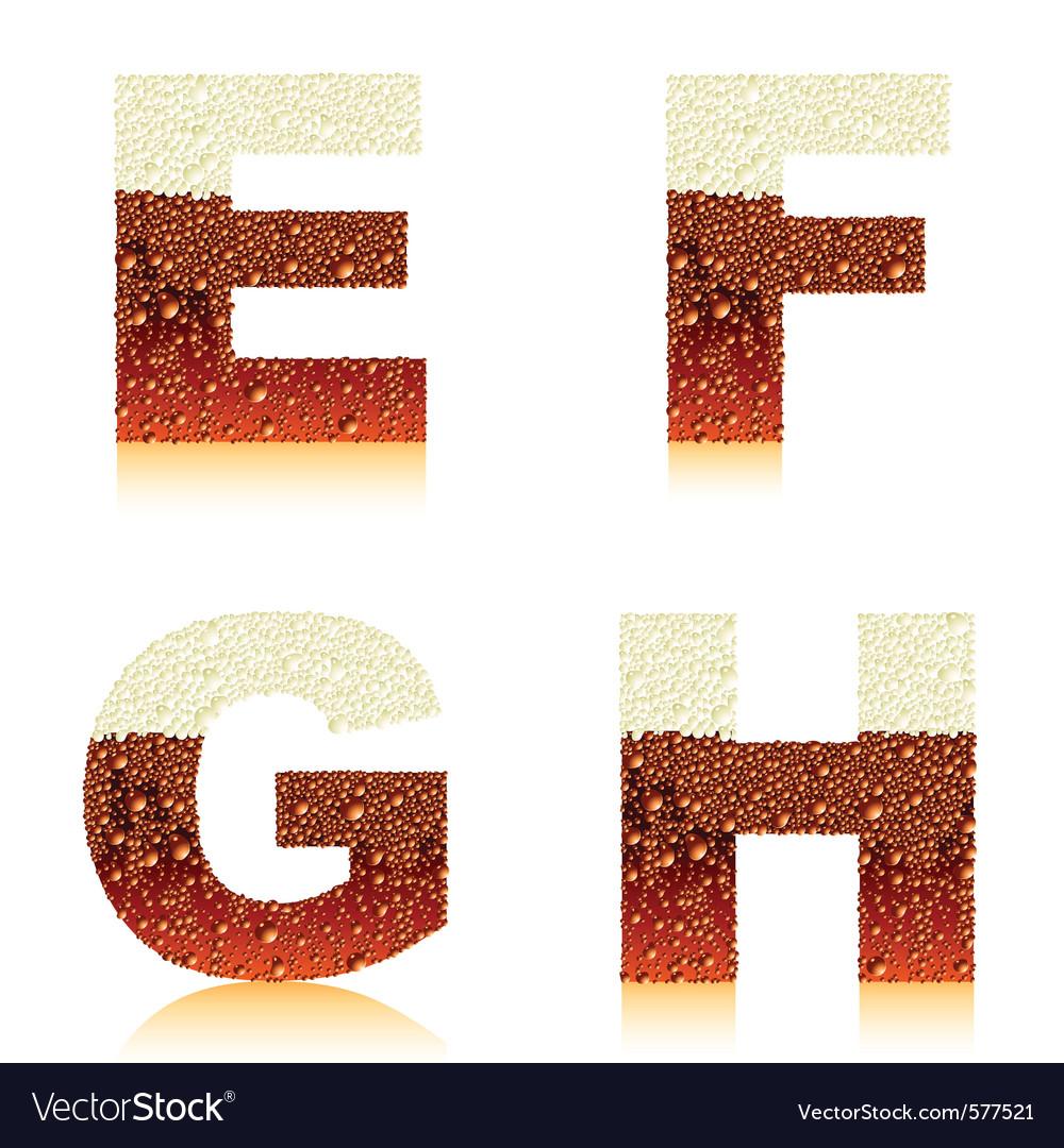 Alphabet dark beer efgh vector   Price: 1 Credit (USD $1)
