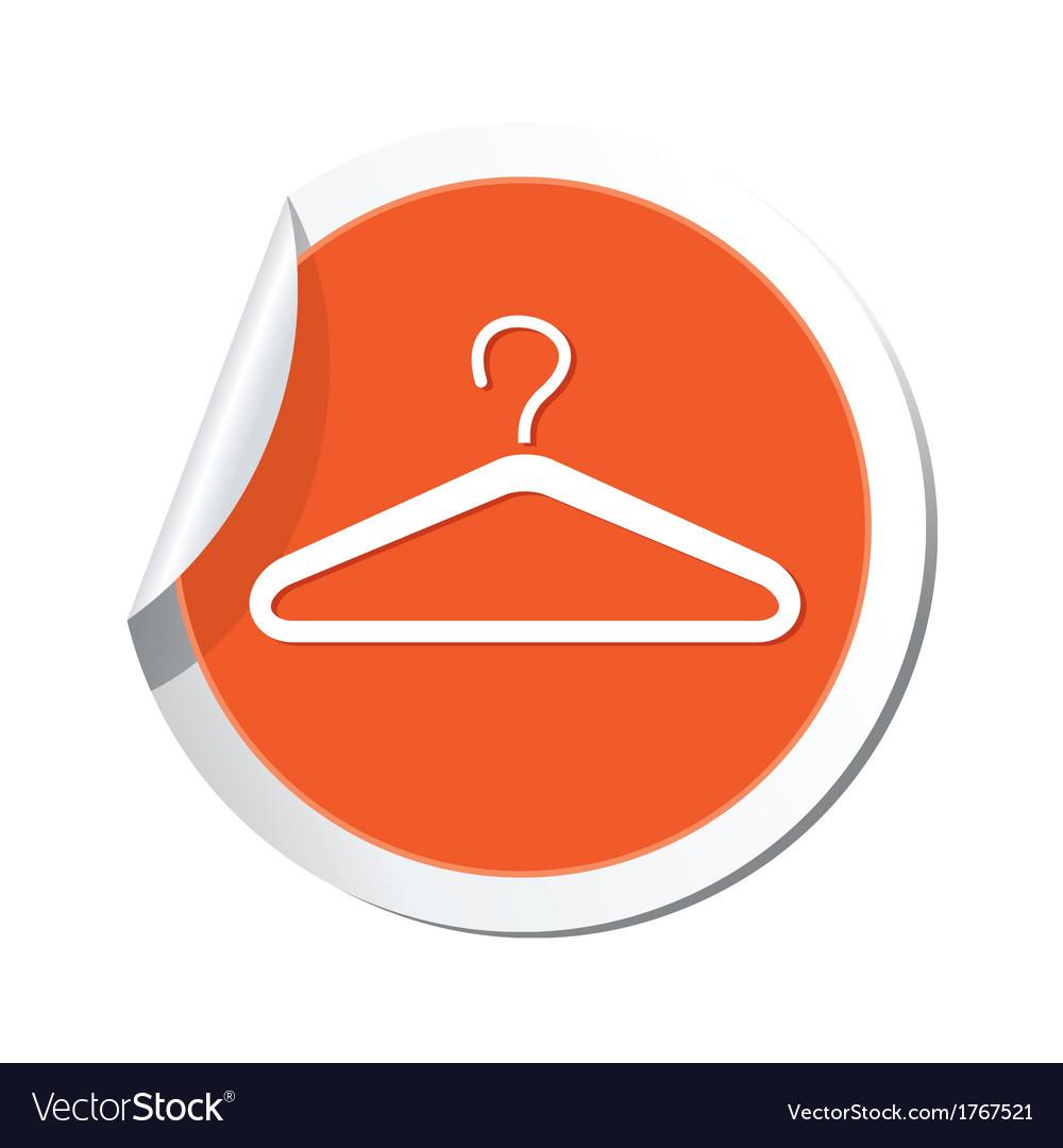 Clothers simbol orange tag vector   Price: 1 Credit (USD $1)