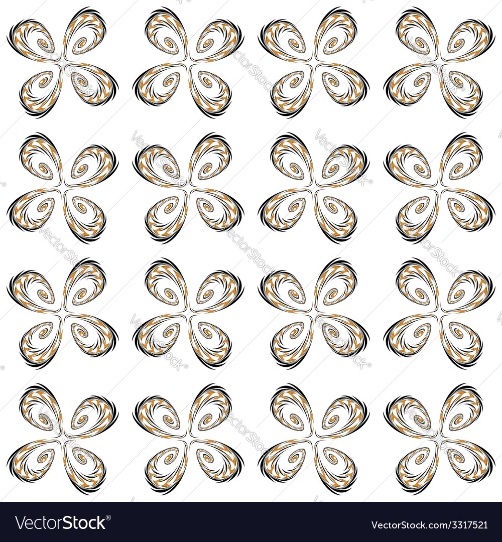 Design seamless flower decorative pattern vector | Price: 1 Credit (USD $1)