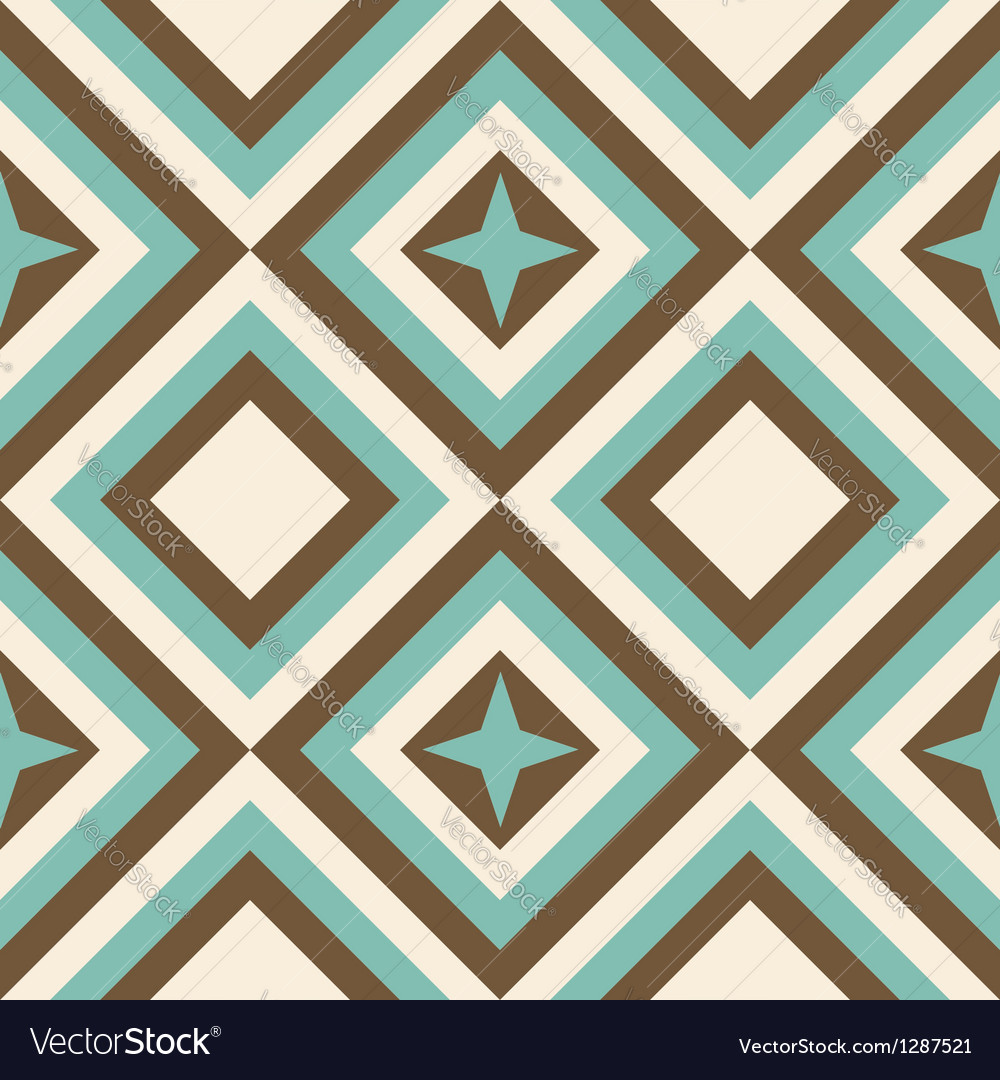 Fashion geometrical pattern in retro colors vector | Price: 1 Credit (USD $1)