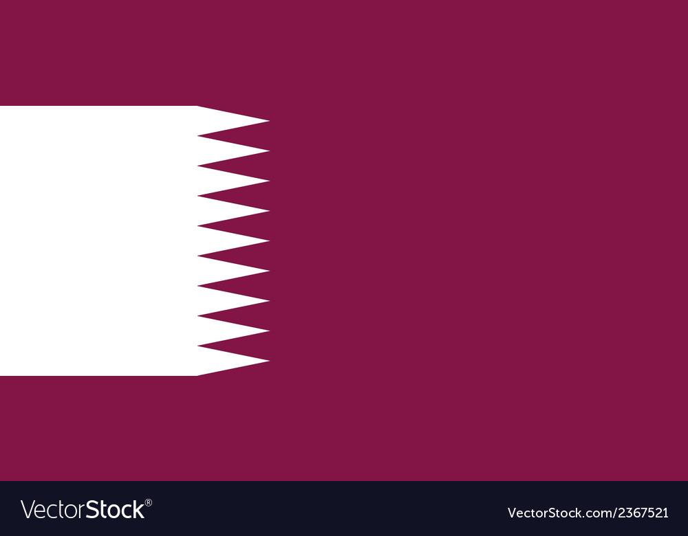 Flag of qatar vector | Price: 1 Credit (USD $1)