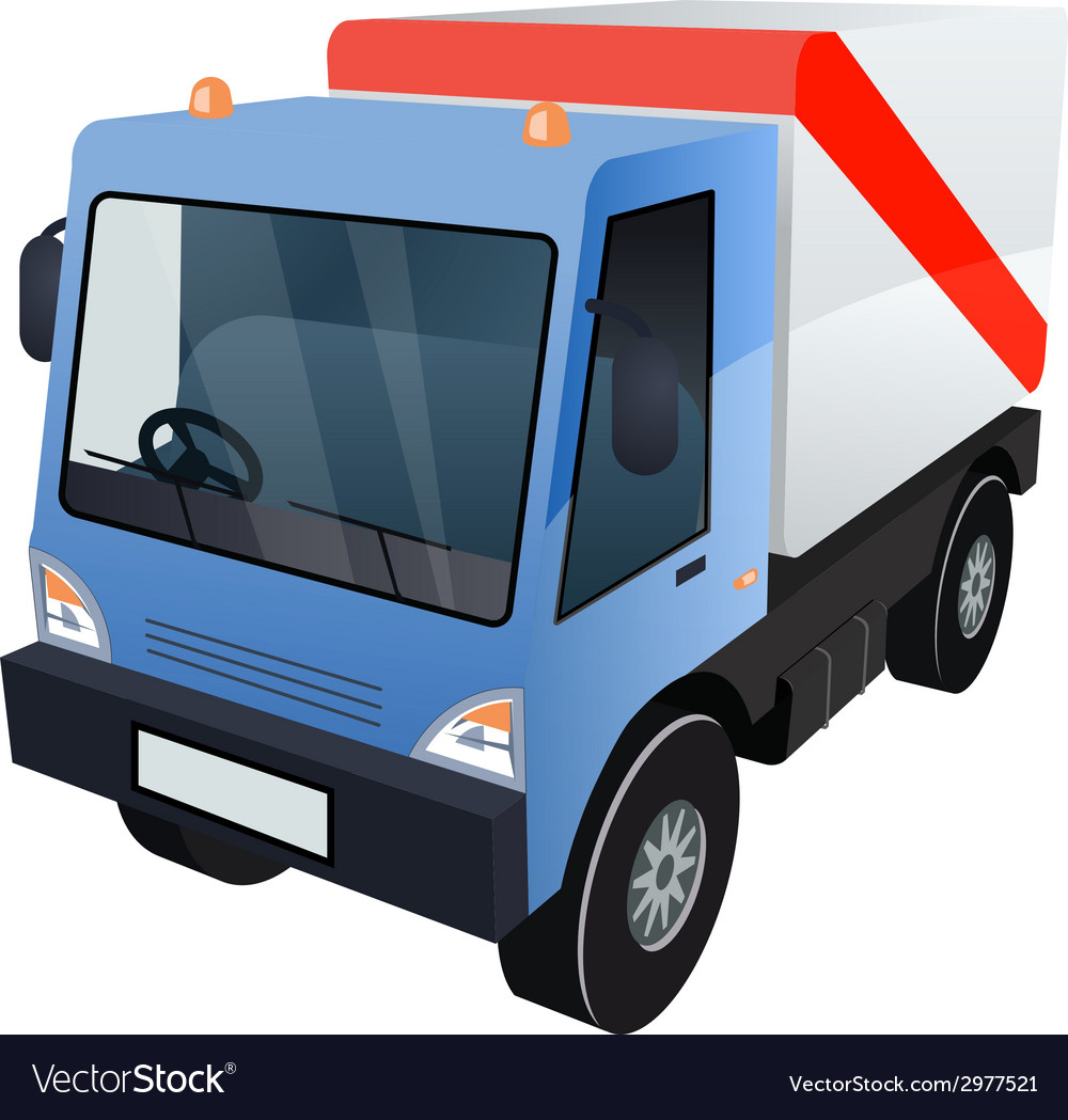 Graphic of cargo truck on white background vector | Price: 1 Credit (USD $1)