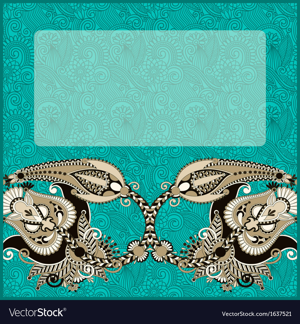 Original ornamental floral vintage template vector | Price: 1 Credit (USD $1)