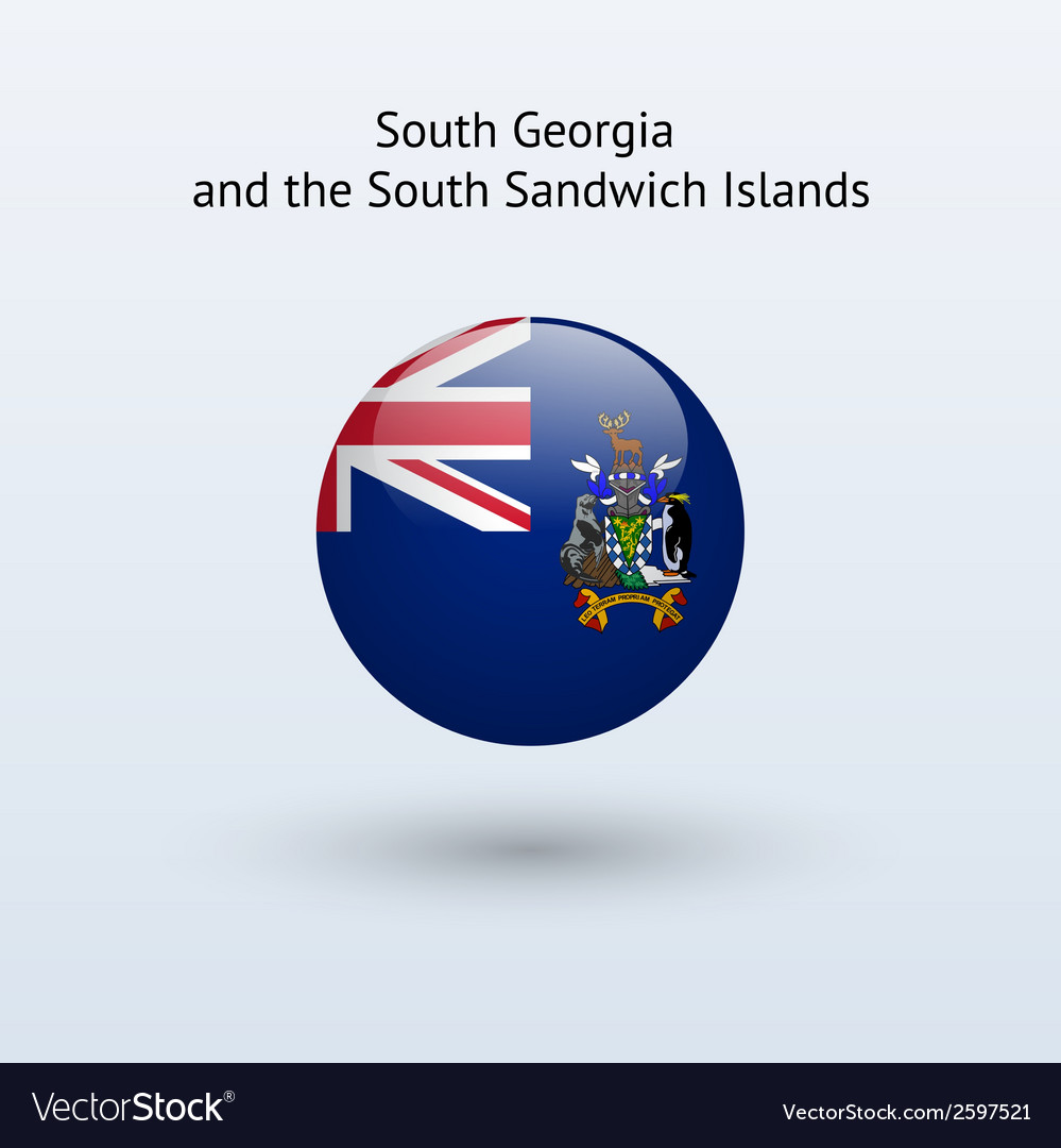 South georgia and sandwich islands round flag vector | Price: 1 Credit (USD $1)