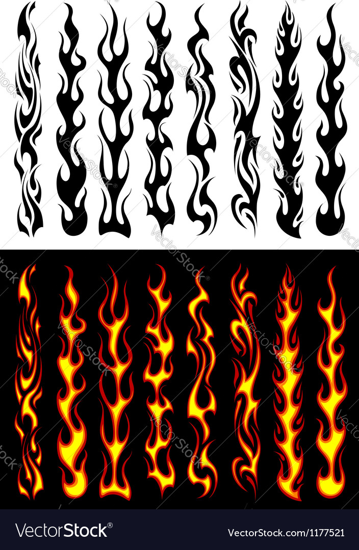 Tribal flames and elements vector | Price: 1 Credit (USD $1)