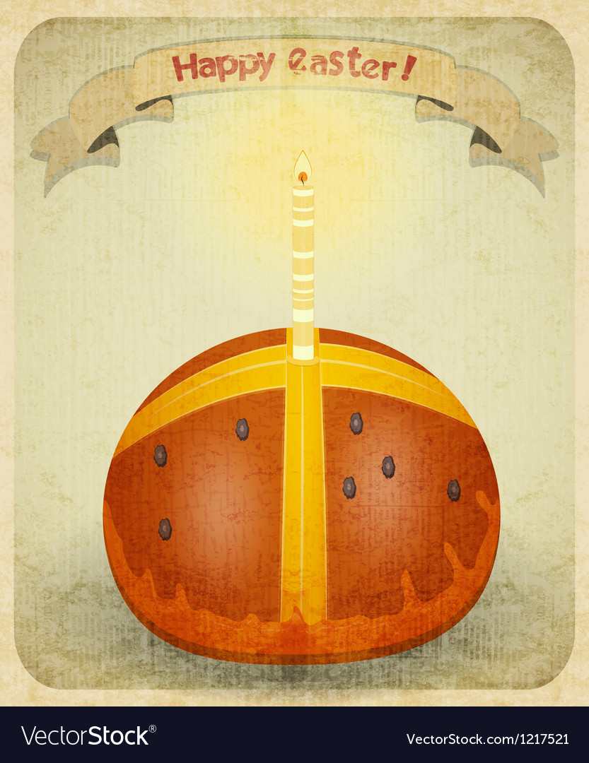 Vintage retro easter card vector | Price: 3 Credit (USD $3)