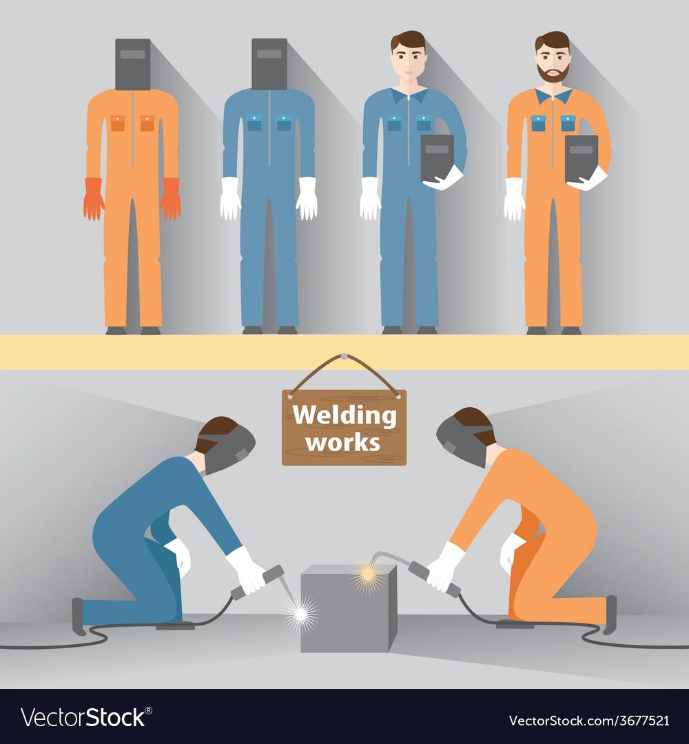 Welding work vector | Price: 1 Credit (USD $1)