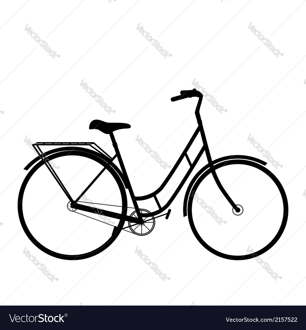 Black bicycle isolated on a white background vector | Price: 1 Credit (USD $1)