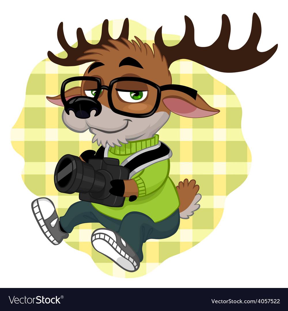 Deer hipster vector   Price: 3 Credit (USD $3)