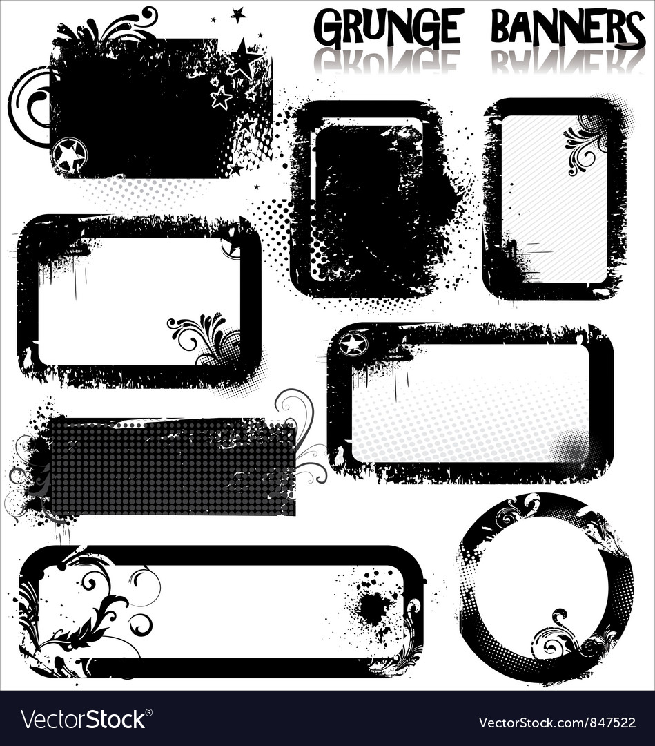 Empty grunge banners vector | Price: 1 Credit (USD $1)