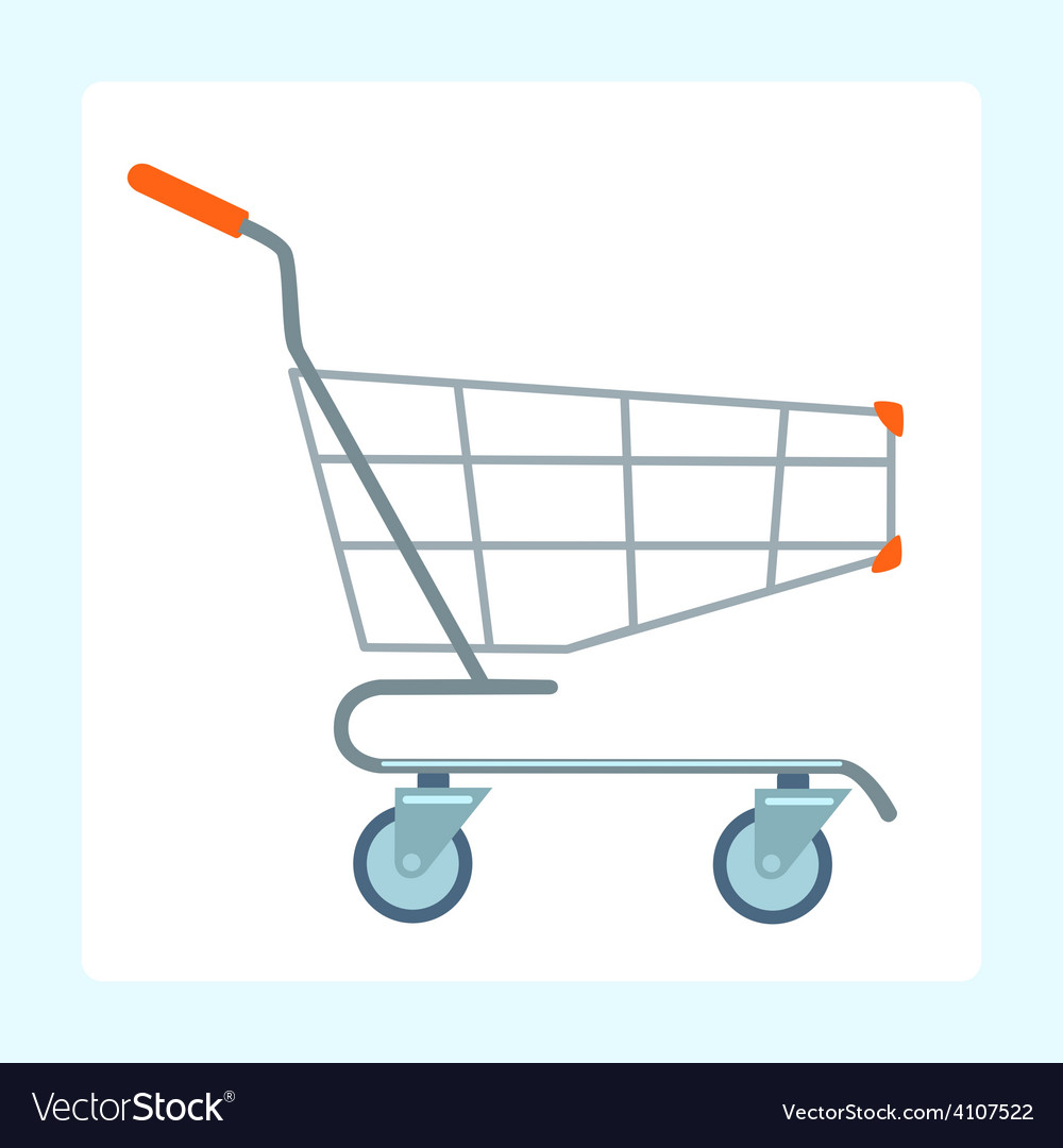 Grocery cart on wheels vector | Price: 1 Credit (USD $1)