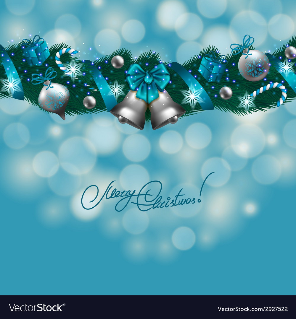 New years background - a garland of fir branches vector | Price: 1 Credit (USD $1)