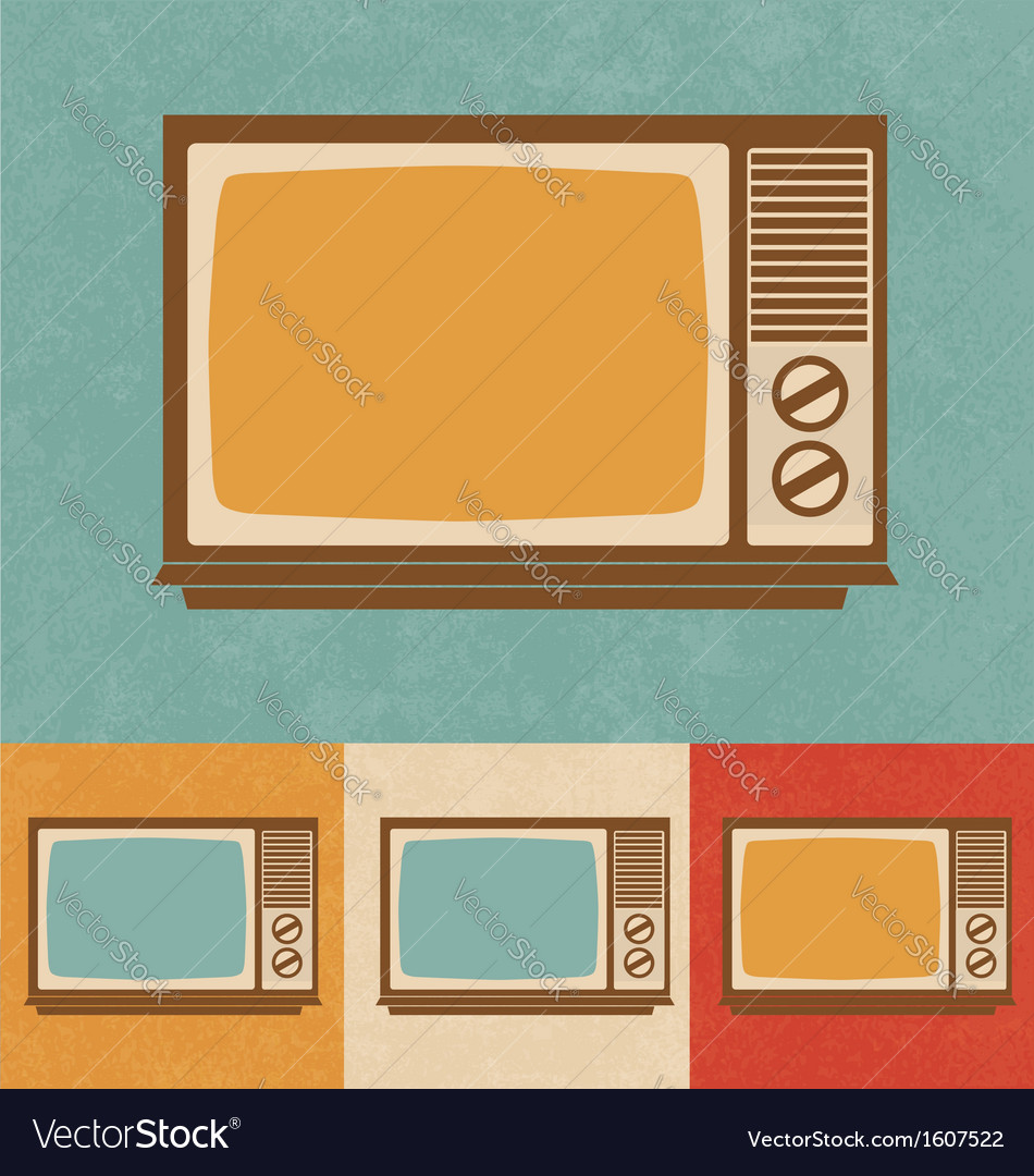 Old television vector | Price: 1 Credit (USD $1)