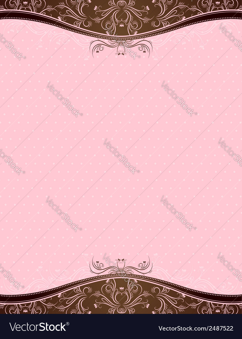 Pink background with decorative ornaments vector | Price: 1 Credit (USD $1)