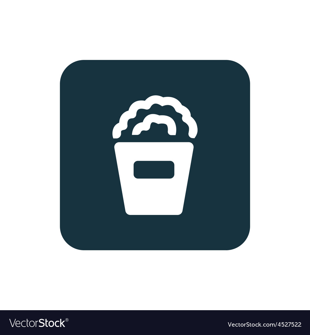 Popcorn icon rounded squares button vector | Price: 1 Credit (USD $1)