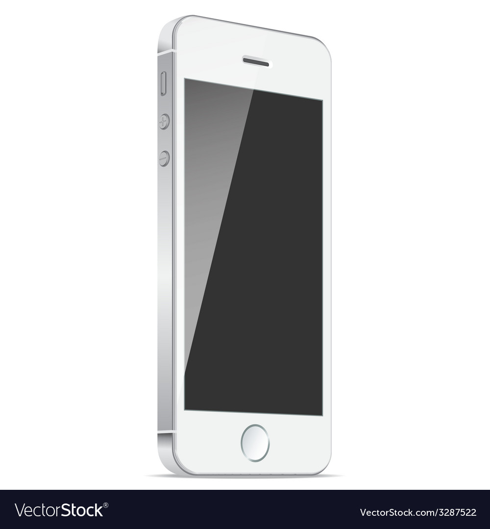 Realistic white mobile apple iphone 5s or 6 plus vector | Price: 1 Credit (USD $1)