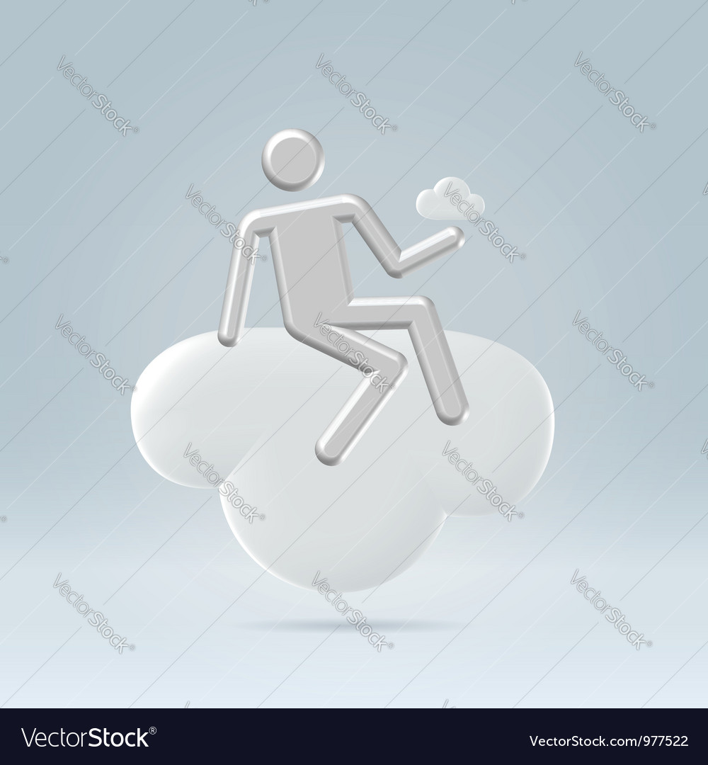 Sitting on a cloud vector | Price: 1 Credit (USD $1)