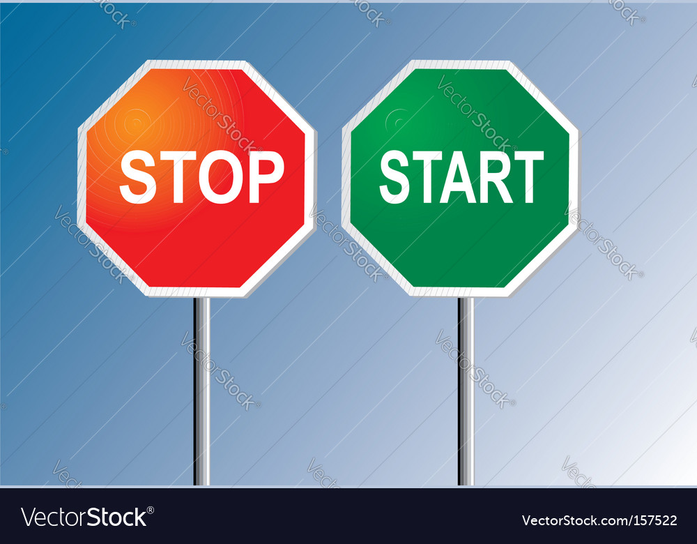 Stop and start vector | Price: 1 Credit (USD $1)